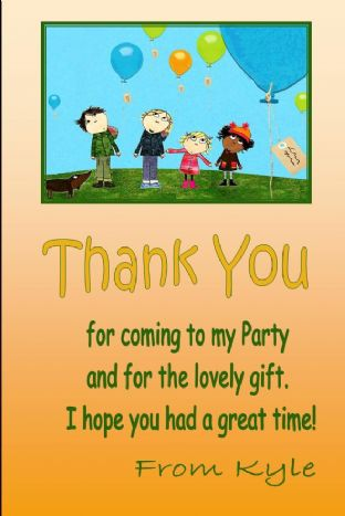 Personalised Charlie & Lola Thank You Cards